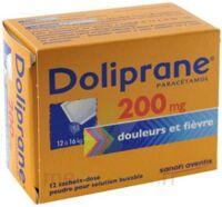 Doliprane 200 Mg Poudre Pour Solution Buvable En Sachet-dose B/12 à Saintes