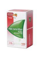 Nicorette 2 Mg Gomme à Mâcher Médicamenteuse Sans Sucre Fruits Plq/105 à Saintes