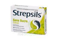 Strepsils Citron Sans Sucre, Pastille édulcorée à L'isomalt, Au Maltitol Et à La Saccharine Sodique à Saintes