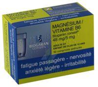 Magnesium/vitamine B6 Biogaran Conseil 48 Mg/5 Mg, Comprimé Pelliculé à Saintes
