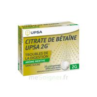 Citrate De Bétaïne Upsa 2 G Comprimés Effervescents Sans Sucre Menthe édulcoré à La Saccharine Sodique T/20 à Saintes