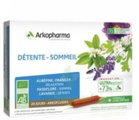 Arkofluide Bio Ultraextract Solution Buvable Détente Sommeil 20 Ampoules/10ml à Saintes