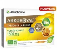 Arkoroyal Gelée Royale Bio Sans Sucre 1500mg Solution Buvable 20 Ampoules/10ml à Saintes