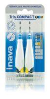 Inava Brossettes Tri Compact étroit  012 Noir 0,6mm/ Bleu 0,8mm/ Jaune 1mm à Saintes