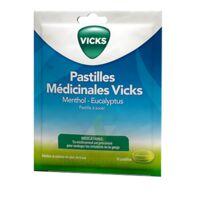 Pastilles Medicinales Vicks Past à Sucer Menthol Eucalyptus Sach/18 à Saintes