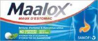 Maalox Hydroxyde D'aluminium/hydroxyde De Magnesium 400 Mg/400 Mg Cpr à Croquer Maux D'estomac Plq/40 à Saintes