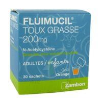 Fluimucil Expectorant Acetylcysteine 200 Mg Sans Sucre, Granulés Pour Solution Buvable En Sachet édulcorés à L'aspartam Et Au Sorbitol à Saintes