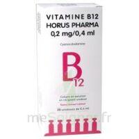 Vitamine B12 Horus Pharma 0,05 % Collyre Sol En Récipient Unidose 20unid/0,4ml à Saintes
