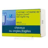 Cystine/vitamine B6 Biogaran Conseil 500 Mg/50 Mg Cpr Pell Plq/120 à Saintes