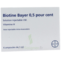 Biotine Bayer 0,5 Pour Cent, Solution Injectable I.m. à Saintes