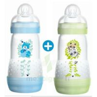 Mam Biberon Easy Start Anti-colique 260 Ml Lot De 2_ Bleu & Vert à Saintes