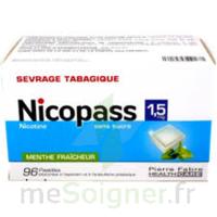 Nicopass 1,5 Mg Pastille Sans Sucre Menthe Fraîcheur Plq/96