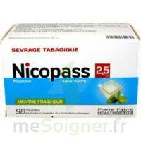 Nicopass 2,5 Mg Pastille Menthe Fraîcheur Sans Sucre Plq/96 à Saintes