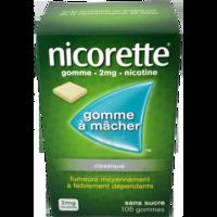Nicorette 2 Mg Gom à Mâcher Médic Sans Sucre Menthe Fraîche Plq/105gom à Saintes