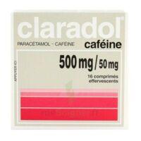 Claradol Cafeine 500 Mg/50 Mg, Comprimé Effervescent à Saintes