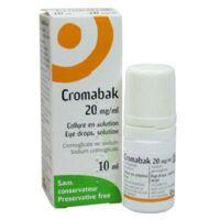Cromabak 20 Mg/ml, Collyre En Solution