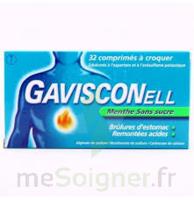 Gavisconell Coprimés à Croquer Sans Sucre Menthe édulcoré à L'aspartam Et à L'acésulfame Potas Plq/24 à Saintes