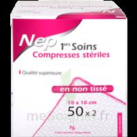 Nepenthes Premiers Soins Compresse Stérile Non Tissée 10x10cm 50sachx2     à Saintes