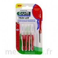 Gum Trav - Ler, 0,8 Mm, Manche Rouge , Blister 4 à Saintes