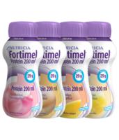 Fortimel Protein Nutriment Multi Saveurs Caramel/vanille/fraise/mangue 4 Bouteilles/200ml à Saintes