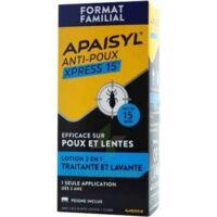 Apaisyl Anti-poux Xpress 15' Lotion Antipoux Et Lente 200ml+peigne à Saintes