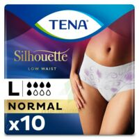 Tena Lady Silhouette Slip Absorbant Blanc Normal Large Paquet/10 à Saintes