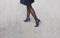 Sigvaris Styles Motifs Losanges Bas Auto-fixants  Femme Classe 2 Noir Small Normal à Saintes