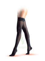 Sigvaris Styles Motifs Resilles Bas Auto-fixants  Femme Classe 2 Noir Small Normal à Saintes