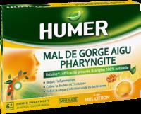 Humer Pharyngite Pastille Mal De Gorge Miel Citron B/20 à Saintes